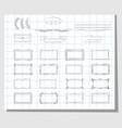 school hand drawn frames vector image