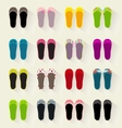 Ballerina shoes flat colorful set vector image