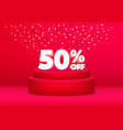 3d discount 50 percent off sale poster or flyer vector image