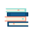 a pile books vector image vector image