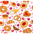 a seamless background of fruit baking vector image vector image