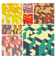 Abstract Geometrical 3d Background set vector image vector image