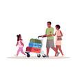 airport arrival semi flat rgb color parents vector image