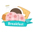 Best Breakfast Icon Background in Modern Flat vector image vector image