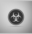 biohazard symbol icon isolated on grey background vector image vector image