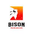 bison box logo design template vector image