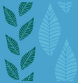 blue green leaf grass stream seamless pattern vector image vector image