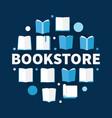 bookstore round flat circular vector image vector image