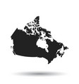 Canada map icon flat canada sign symbol with
