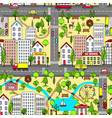 cartoon city landscape vector image vector image
