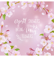 Cherry Blossom Spring Card - with Quote vector image vector image
