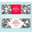 christmas banner hand drawn vector image