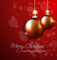 Christmas hanging balls ornaments greeting card vector image
