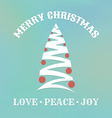 christmas label with tree vector image vector image