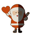 colorful silhouette of santa claus with open arms vector image vector image