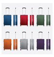 colorful travel luggage vector image