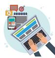 digital marketing online promotion e-commerce vector image