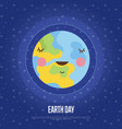 earth day cartoon web banner vector image vector image