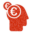 euro businessman intellect icon grunge watermark vector image vector image