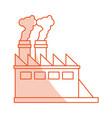 factory cartoon silhouette shadow vector image vector image