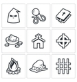 False religion sect icons vector image vector image