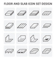 floor slab icon vector image vector image
