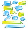 glossy comics vector image vector image