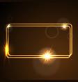 glow orange neon frame shiny template vector image vector image