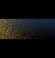 golden glittering particles banners or social vector image vector image