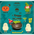 halloween card blue vector image vector image
