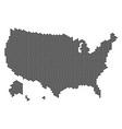 hex tile usa with alaska map vector image
