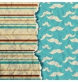 Hipster background Card with mustache vector image vector image