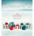 Holiday Christmas background with gift boxes vector image vector image