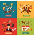 Horse Riding Design Concept Set vector image vector image