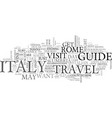 italy travel guide text background word cloud vector image vector image