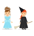 Little Princess and Witch vector image vector image