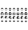 man and woman in medical mask icons black vector image vector image