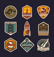 mars mission isolated label set vector image vector image
