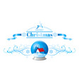 merry christmas holiday horizontal banner isolated vector image vector image