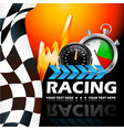 motorcycle or car racing poster design vector image