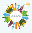 munich germany city skyline with color buildings vector image vector image