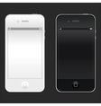 New realistic black and white mobile phone vector image vector image