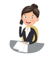 of business woman vector image