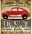 old car vintage classic retro man t shirt graphic vector image vector image