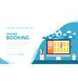 online hotel room ticket reservation vector image vector image
