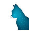 origami paper cat animals vector image