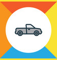 pickup colorful outline symbol premium quality vector image vector image