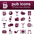 pub icons vector image vector image
