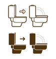put down toilet seat icon cartoon graphic vector image