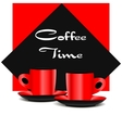 Red coffee cups vector image vector image
